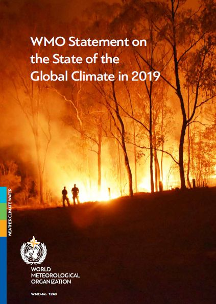 okładka Biuletynu WMO Statement on the State of the Global Climate in 2019